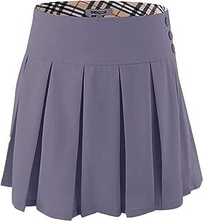 Bienzoe Girl's Stretchy Pleated Adjustable Waist School Uniforms Skirt