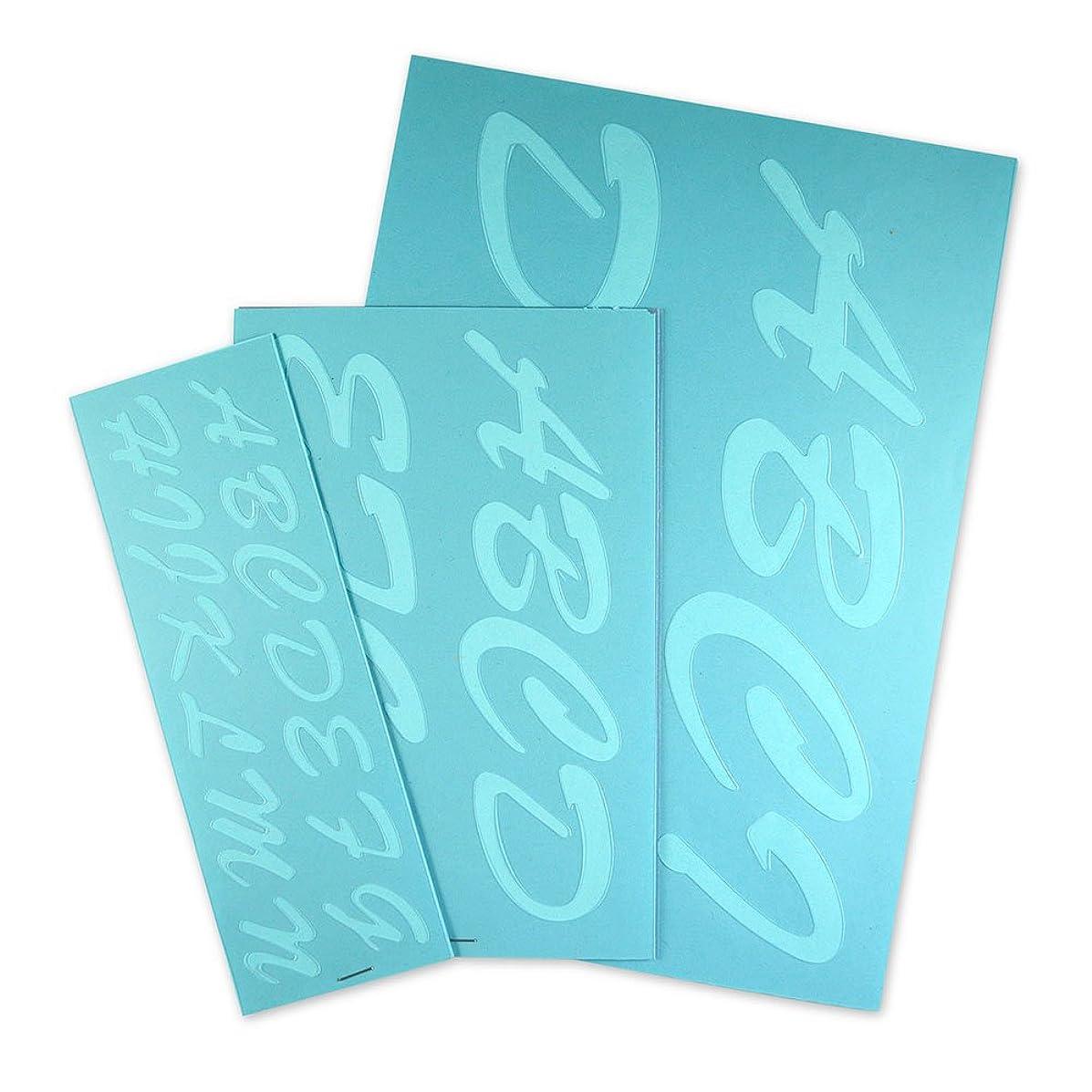 Cosco Stencil Kit, Letters, Transparent Plastic Script 1-3 Inches (090310)