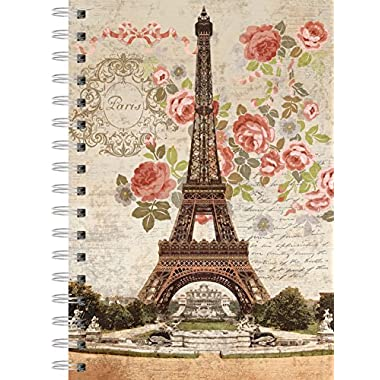 "LANG - Spiral-Bound Journal - ""Dreaming of Paris, Artwork by Suzanne Nicoll - 240 Ruled Pages, 6 x 8.25 Inches"