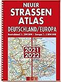Neuer Straßenatlas Deutschland/Europa 2021/2022: Deutschland 1 : 300 000 . Europa 1 : 3 000 000