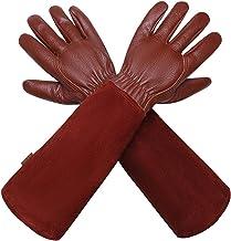 isilila Leren tuinhandschoenen voor dames en heren, ademende rozensnoei-handschoenen met doornbestendige handschoenen, lan...