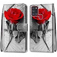 Laybomo Samsung Galaxy A21s ケース カバー 手帳型, [カードスロット]および[キックスタンド]付きの磁気閉鎖完全保護設計ウォレットフリップ 財布型カバー対応 Galaxy A21s電話ケース, 塗る 4