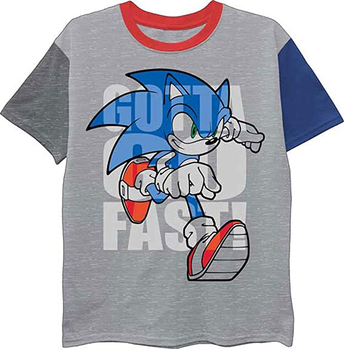 Officially Licensed Fast Sonic Sonic The Hedgehog Kids T-Shirt Age 3-12 Years