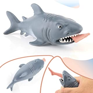 Funny Shark Squeeze Toys - Stress Relief Toys for kids and Adults, Gem Toys Squishy Practical Joke Toys for Halloween Party Favors, Sensory Toy - Suitable for Anxiety,Autism and ADHD