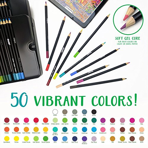 Crayola Signature Blend & Shade Soft Core Colored Pencils in Tin, Gift - 50Count