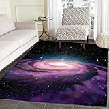 Galaxy Floor Mat Pattern Spiral Galaxy in Outer Space Andromeda Nebula Star...