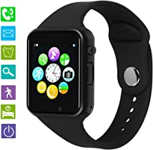 Smart Watch PLYSIN Bluetooth Smartwatch Unlocked Watch Cell Phone with Sim Slot for 2G GSM Track Activity Watch with Pedometer Camera Music-Player Compatible with Android Phone Samsung HTC Sony Huawei