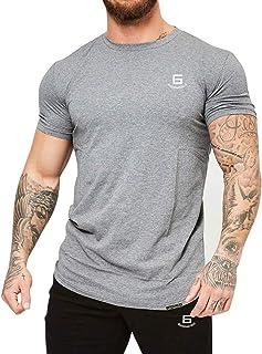 Samy トレーニングウェア メンズ Tシャツ ストレッチ 半袖 スポーツ シャツ 筋トレ フィットネス DX513