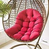 SHGAO Cojín colgante para silla de huevo, cojín de mimbre con diseño de cremallera para jardín, cojines para sillas de jardín de patio, cojines para sillas de relax para interiores y exteriores (rojo)
