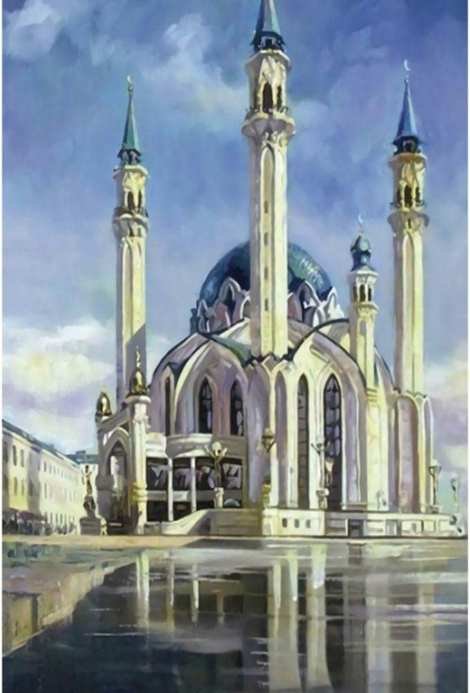 Mail order cheap YHKTYV Beautiful Mosque Architecture Wooden New products, world's highest quality popular! B Pieces Jigsaw 1000
