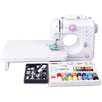 Mini máquina de coser eléctrica puntadas Portable12 luz de iluminación incorporada y un cajón de mano