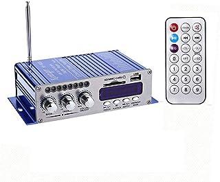 مكبر الصوت Nukcc Sound Amp، Mini BT ستيريو ومكبر الصوت المحمول مع جهاز تحكم عن بعد للمنزل والسيارة