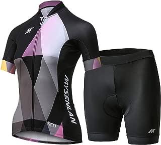 Mysenlan Women's Cycling Jersey Running Shirt Short Sleeve Breathable Bike Shirt Sports T-Shirt Black