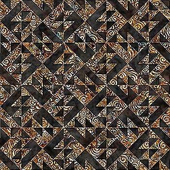 Quilting Treasures Fabrics Paradox Dan Morris Sawtooth Squares Black