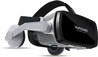 Casque VR [2021 Nouveauté], HAMSWAN Casques de Réalité Virtuelle Lunettes 3D Réalité Virtuelle avec Casque Intégré pour iP...