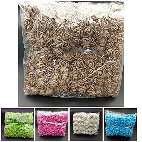 LEFUYAN 144 Pcs/Pack Mini Foam Artificial Rose Flower Bouquet Wedding Decor Craft Supplies Silk Flower Arrangements