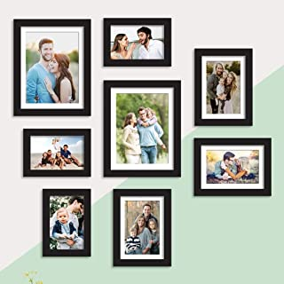 Art Street Set of 8 Black Wall Photo Frame, Picture Frame for Home Decor with Free Hanging Accessories (Size - 5x7, 6x8, 8...