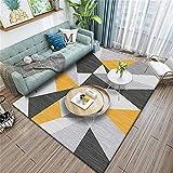 Alfombra Juvenil Dormitorio Alfombras De Habitacion Infantil Se Puede Utilizar el diseño del Modelo de Empalme Amarillo Gris. Alfombra Moderna 160X230cm