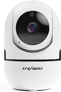 Cámara de Vigilancia 1080P Wifi con Visión Nocturna, Cámara de Mascota,Audio de 2 Vías, Giro / Inclinación, Detección de M...