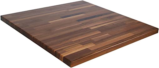 John Boos WALKCT-BL6030-O Blended Walnut Island Top with Oil Finish, 1.5