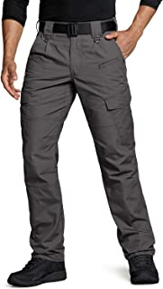 Men's Tactical Pants, Water Repellent Ripstop Cargo...