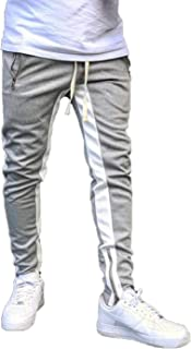 Acelitt Men Casual Fashion Spring Gym Jogger Pants Slim Fit Workout Sport Running Sweatpants Pants with Pockets Gray Large