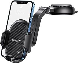 UGREEN Support Téléphone Voiture Porte Portable Voiture Tableau de Bord Rotation à 360 Degrés Compatible avec iPhone 12 Pro Max 11 X 8 7 Galaxy S21 S20 S10 S7 S6 Note 20 Xiaomi Redmi Note 10 9 GPS