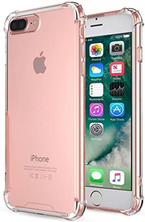 iPhone 7 Plus Case, iPhone 8 Plus Case, DN-TECHNOLOGY® [Fusion] Crystal Clear Back TPU Bumper Case With Raised Corner [Advanced Shock-Absorbent/Drop Protection Technology] Clear Case/Shockproof Case /Transparent Case/ Clear Case For Apple iPhone 7 Plus Phone Case, Apple iPhone 8 Plus Phone Case (Compatible With iPhone 7 Plus / 8 Plus Screen Protector Tempered Glass)
