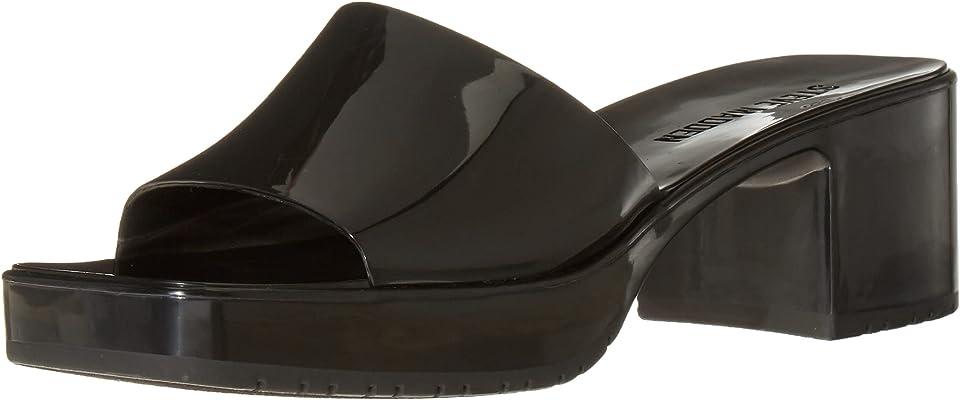 Steve Madden Women's Harlin Heeled Sandal, Black, 8