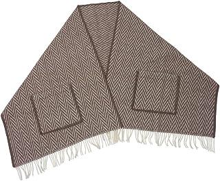[ラプアンカンクリ]Lapuan Kankurit ポケット付き ショール 60x200 IIDA(柄物) ブラウン/ホワイト [並行輸入品]