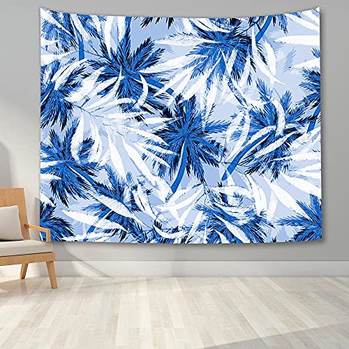 KHKJ Tropical Branches Trees Tapestry Bedroom Wall Hanging Tapestry Blanket Watercolor Plants Pattern Background Cloth A2 95x73cm