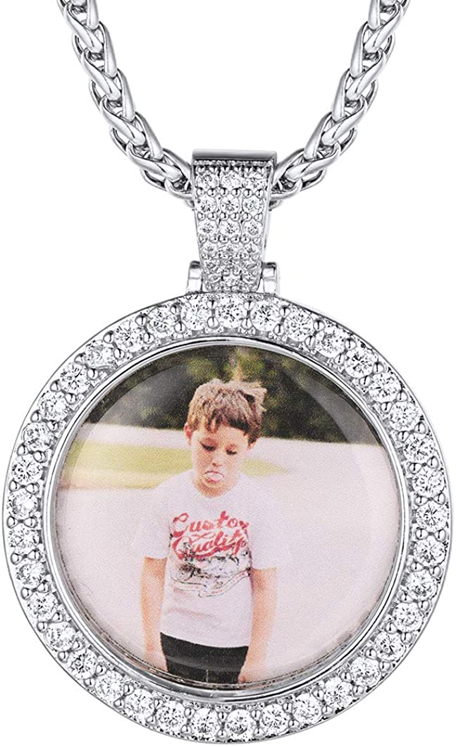 Richsteel Max 89% OFF Custom Picture Photo online shop Necklace Men for Women Personaliz