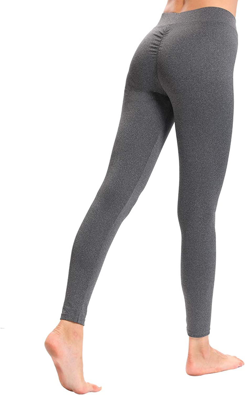 CHRLEISURE Women High Waisted Workout Yoga Sports Fitness Leggings V Shape Waist Solid Pants