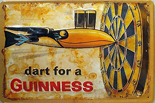 Guinness - Dart for a Guinness Blechschild, 30 x 20 cm
