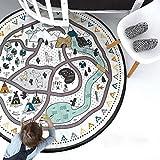 Baby Krabbeldecke Spieldecke, Spielmatte/Spielteppich für Kinder - Rund, Groß & Weich gepolstert 135cm - Ideal fürs Kinderzimmer