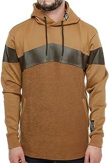 Soulstar Men's Chevron Zip Back Long Hooded Sweatshirt Fishtail Jacket Jumper Size