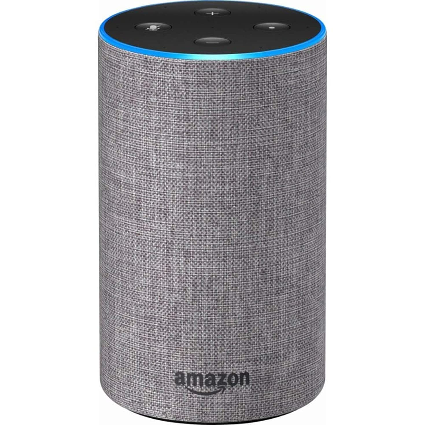 Echo (2nd Generation) - Smart speaker with Alexa - Heather Gray Fabric
