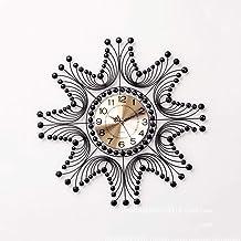 Luxury Rhinestone Large Wall Clock Creative Silent Clocks Simple Living Room Decorative Wall Watch