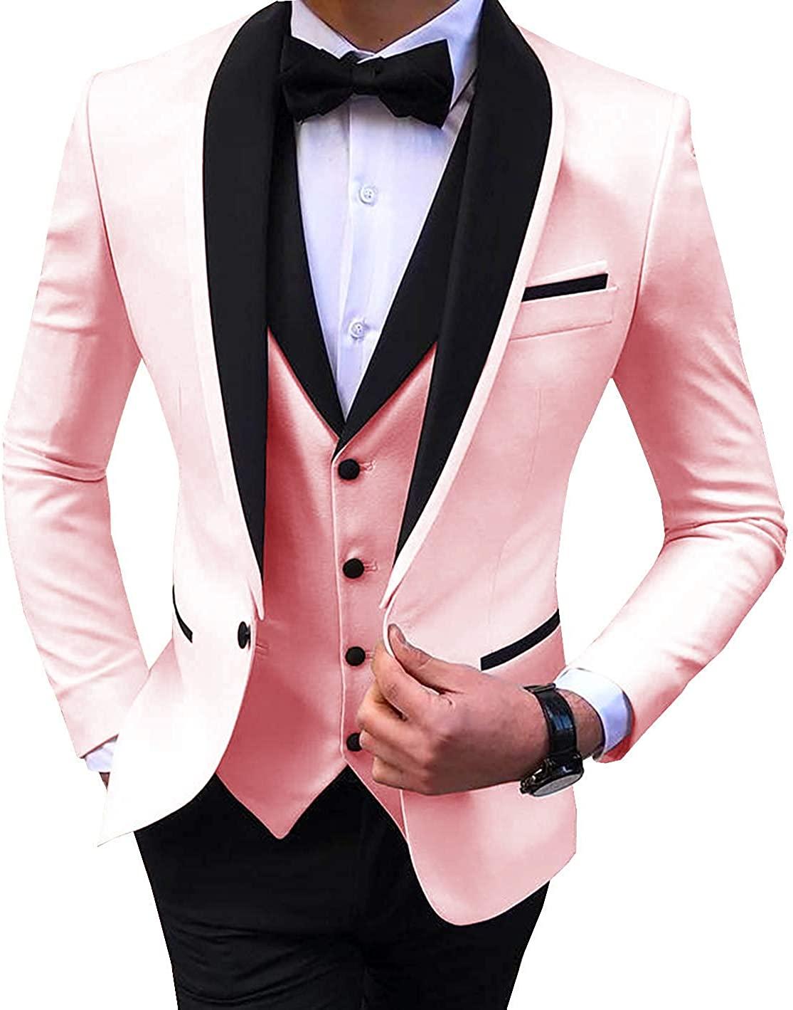 Buy Everbeauty Wedding Dress Suits for Men Slim Fit Tuxedo for ...