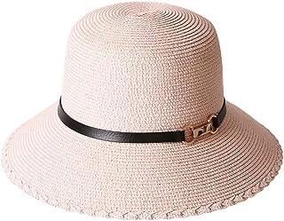 WN - Sombrero - Visera Solar para el Verano para Mujer Sombrero de Paja Casual Plegable Sombrero para el Sol de Vacaciones Sombrero cómodo y Transpirable de Playa (3 Colores) Sombrero para Mujer