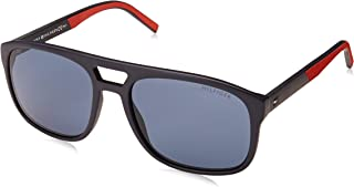 Tommy Hilfiger Men's TH1603S Square Sunglasses, Blue & Red, 56 mm
