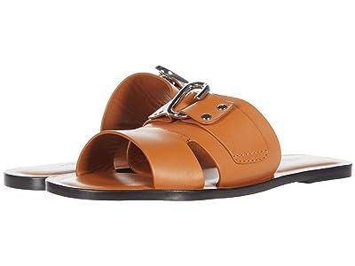 3.1 Phillip Lim Alix Flat Slide Sandal (Cognac) Women