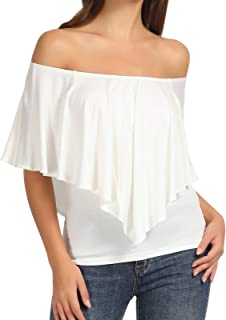 Best layered cold shoulder top Reviews