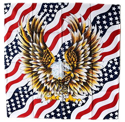 A USA Drapeau us Bandana Aigle Eagle Moto Biker Motard