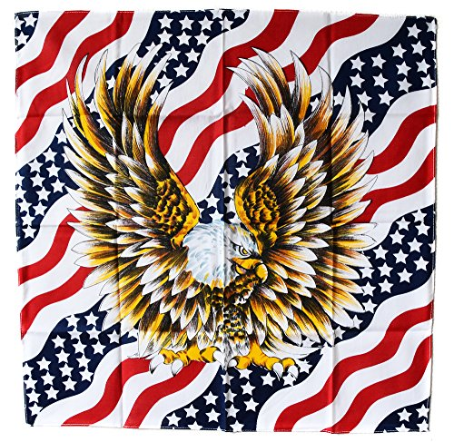 Usa drapeau us bandana aigle eagle moto biker motard