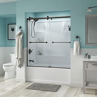 sliding shower door track assembly kit