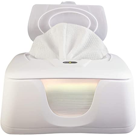 Only Available at Holder and Case Dispenser Baby Wet Wipe Warmer with Easy Press On//Off Switch