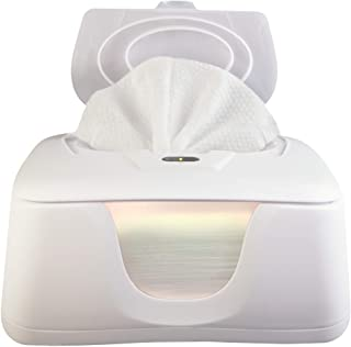 Baby Wipes Warmer and Dispenser, Advanced Features with 4 Bright Auto Off LED Ample Lights for Easy Nighttime Changes, Dua...