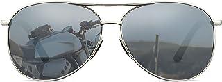 Polarized Aviator Sunglasses for Men Classic Mirrored Lens UV Protection