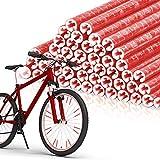EKKONG Bicicleta Radios Reflectores 48 Palos,Reflectante para Rueda,Bicicleta Ciclismo Reflectante Clips,para Todos los radios de Bicicleta (Rojo)